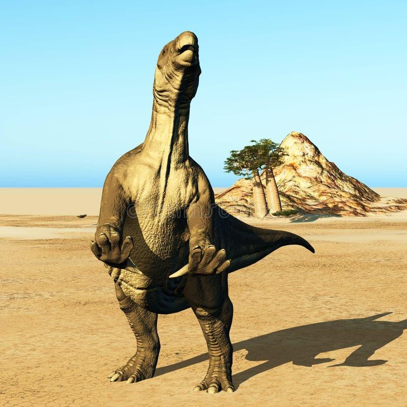 Τεράστιος προϊστορικός δεινόσαυρος στοκ εικόνα με δικαίωμα ελεύθερης χρήσης