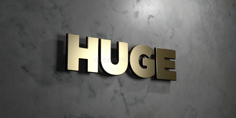 Τεράστιος - το χρυσό σημάδι τοποθέτησε στο στιλπνό μαρμάρινο τοίχο - τρισδιάστατο δικαίωμα ελεύθερη απεικόνιση αποθεμάτων απεικόνιση αποθεμάτων