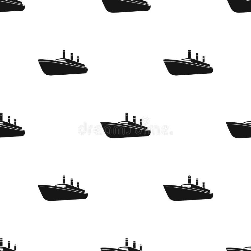 Τεράστιο μαύρο σκάφος της γραμμής φορτίου Σκάφος για τη μεταφορά των βαριών καταιγιδών στη θάλασσα και τον ωκεανό Μεταφορά σκαφών ελεύθερη απεικόνιση δικαιώματος