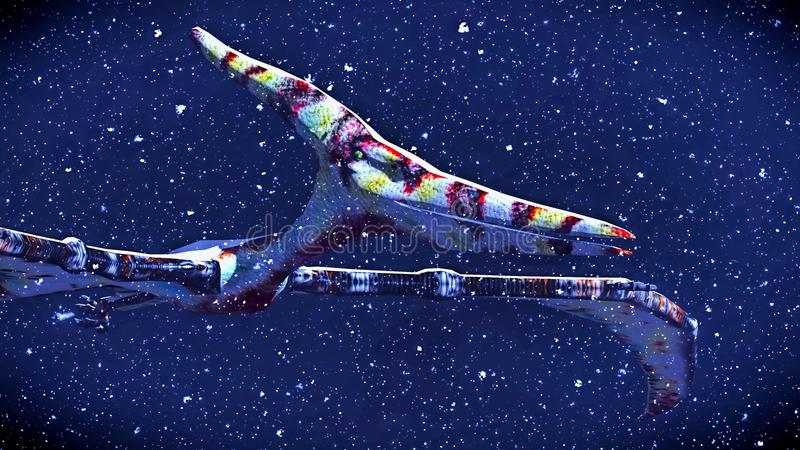 Τεράστιο pterodactyl πέρα από το έδαφος στοκ φωτογραφία με δικαίωμα ελεύθερης χρήσης