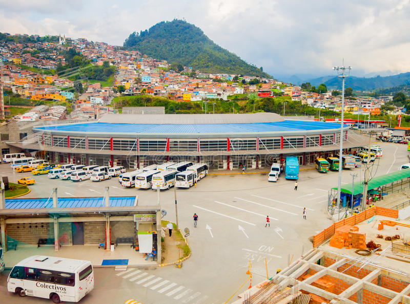 Τερματικό λεωφορείων στην πόλη του Manizales, Κολομβία στοκ φωτογραφίες με δικαίωμα ελεύθερης χρήσης