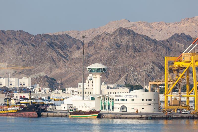 Τερματικό κρουαζιέρας Muscat, Ομάν στοκ φωτογραφίες