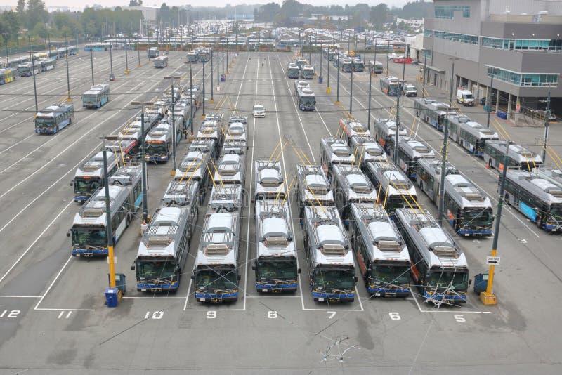 Τερματικό λεωφορείων πόλεων του Βανκούβερ στοκ εικόνες με δικαίωμα ελεύθερης χρήσης