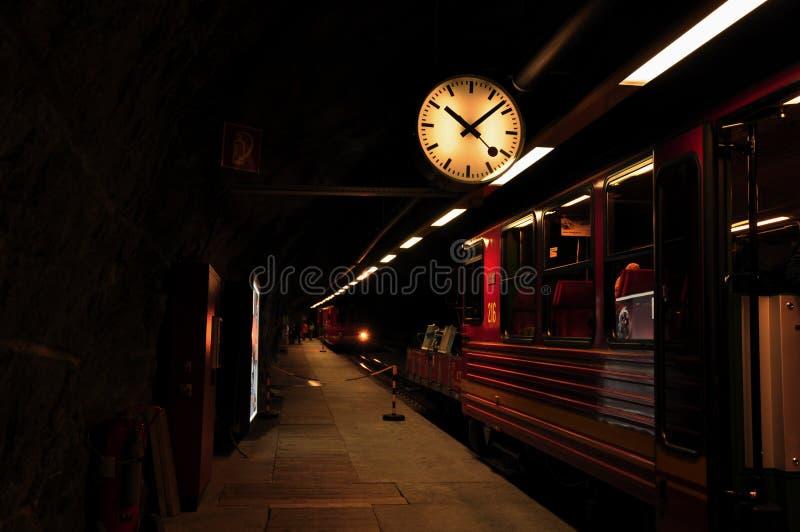 Τερματικό του σιδηροδρόμου Jungfraubahn στοκ φωτογραφία