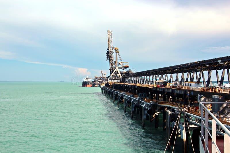 Τερματικό φόρτωσης των προϊόντων άνθρακα για τα φορτηγά πλοία, τα bulkers και την άποψη του φορτωτή γερανών φορτίου Αυστραλία; 20 στοκ φωτογραφίες