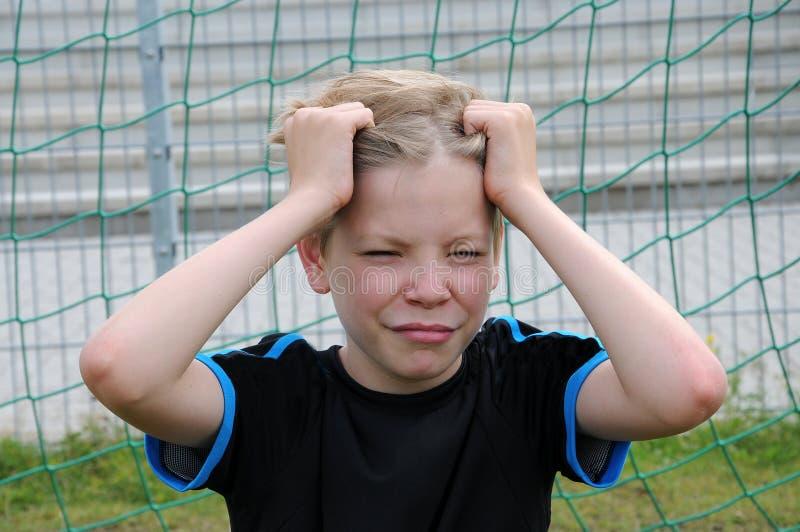 τερματοφύλακας λυπημένος στοκ εικόνα με δικαίωμα ελεύθερης χρήσης