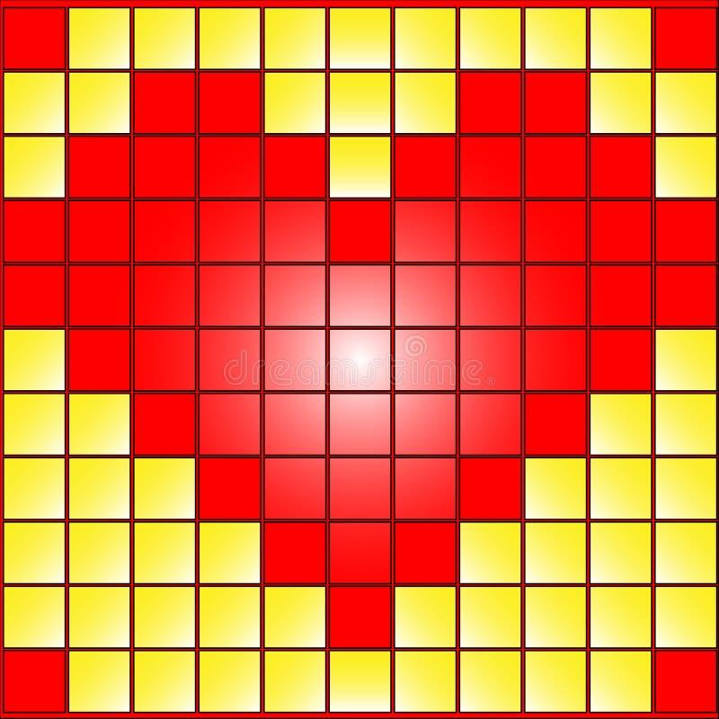 τετράγωνα καρδιών απεικόνιση αποθεμάτων