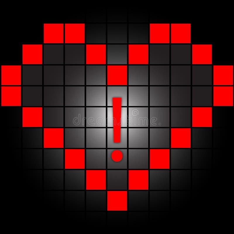 τετράγωνα καρδιών διανυσματική απεικόνιση