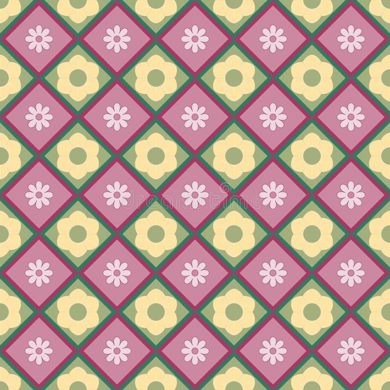 τετράγωνα λουλουδιών διανυσματική απεικόνιση