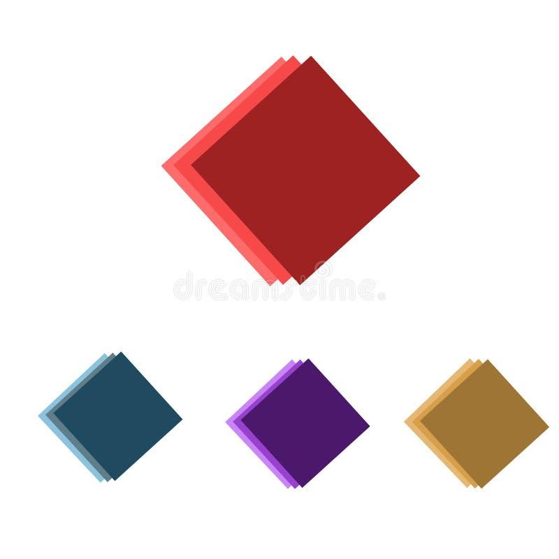Τετράγωνα με την απεικόνιση μορφής για πολλές χρήσεις διανυσματική απεικόνιση