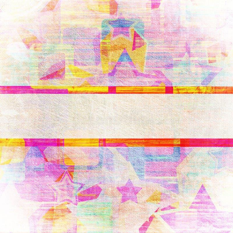Τετράγωνα στα αστέρια grunge. ελεύθερη απεικόνιση δικαιώματος