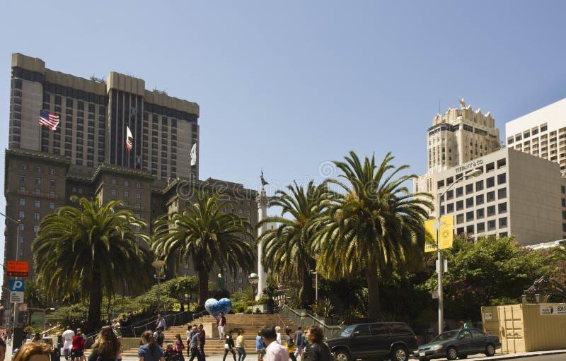 Τετράγωνο ένωσης στο στο κέντρο της πόλης Σαν Φρανσίσκο στοκ εικόνες
