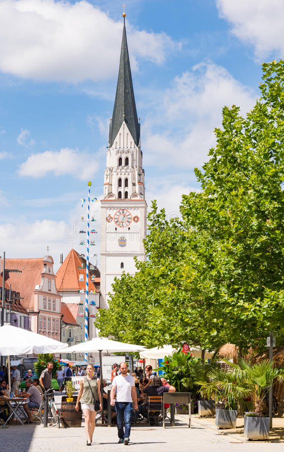 Τετράγωνο αγοράς σε Pfaffenhofen στοκ φωτογραφία