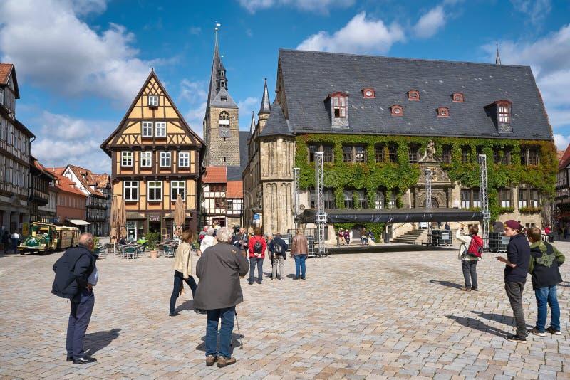 τετράγωνο αγοράς Quedlinburg στοκ φωτογραφία με δικαίωμα ελεύθερης χρήσης