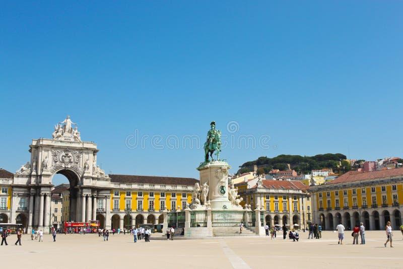 Τετράγωνο εμπορίου στη Λισσαβώνα στοκ φωτογραφία με δικαίωμα ελεύθερης χρήσης