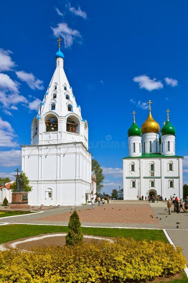 Τετράγωνο καθεδρικών ναών σε Kolomna Κρεμλίνο - την περιοχή της Μόσχας - Ρωσία στοκ εικόνες με δικαίωμα ελεύθερης χρήσης