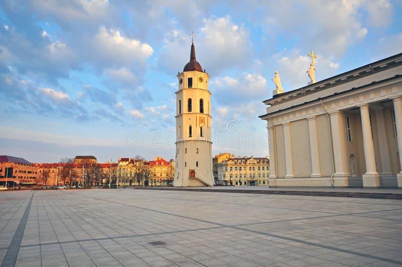 Τετράγωνο καθεδρικών ναών Vilnius στοκ εικόνα