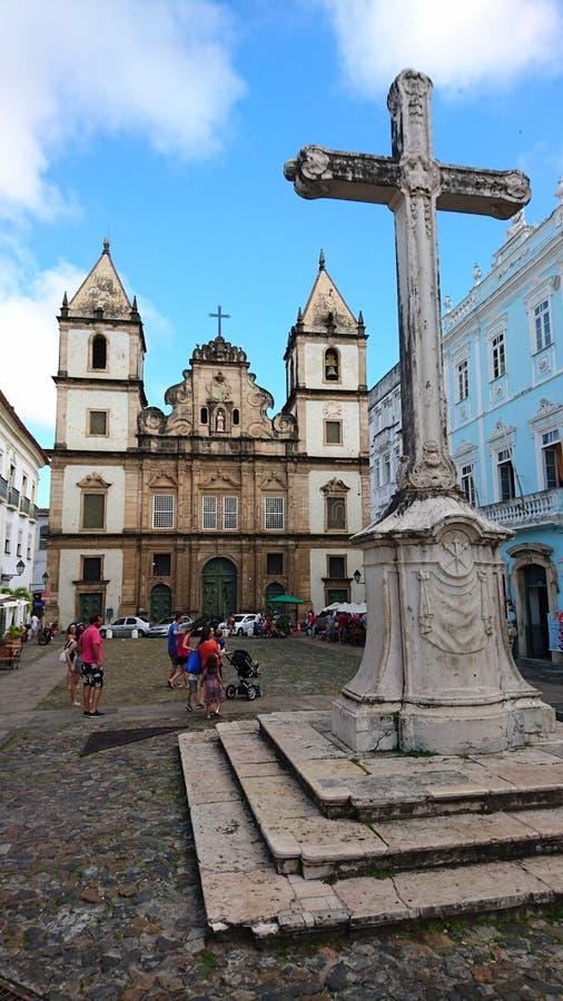 Τετράγωνο κρουαζιέρας ` s του ST Francis, Σαλβαδόρ, Βραζιλία στοκ εικόνα με δικαίωμα ελεύθερης χρήσης