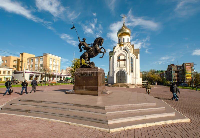 Τετράγωνο νίκης στην πόλη του Ιβάνοβο, Ρωσία στοκ φωτογραφία