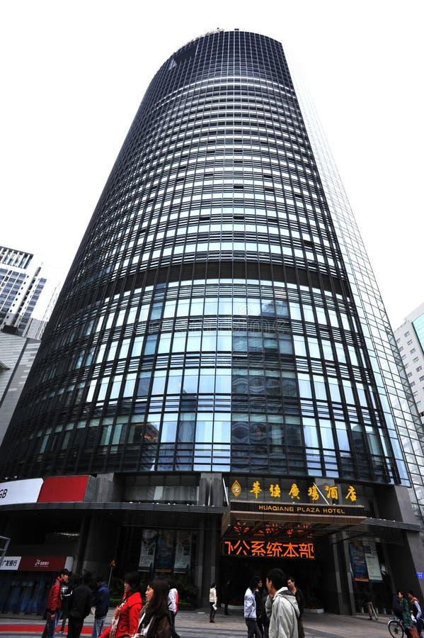 τετράγωνο ξενοδοχείων οικοδόμησης huaqiang στοκ φωτογραφίες με δικαίωμα ελεύθερης χρήσης