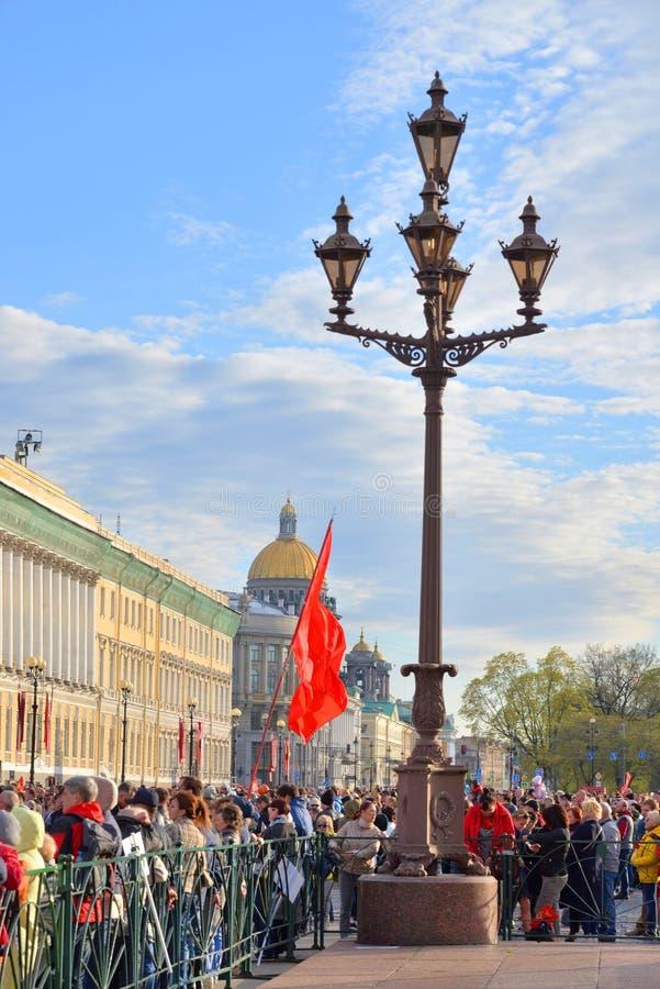 Τετράγωνο παλατιών την ημέρα νίκης στοκ εικόνες