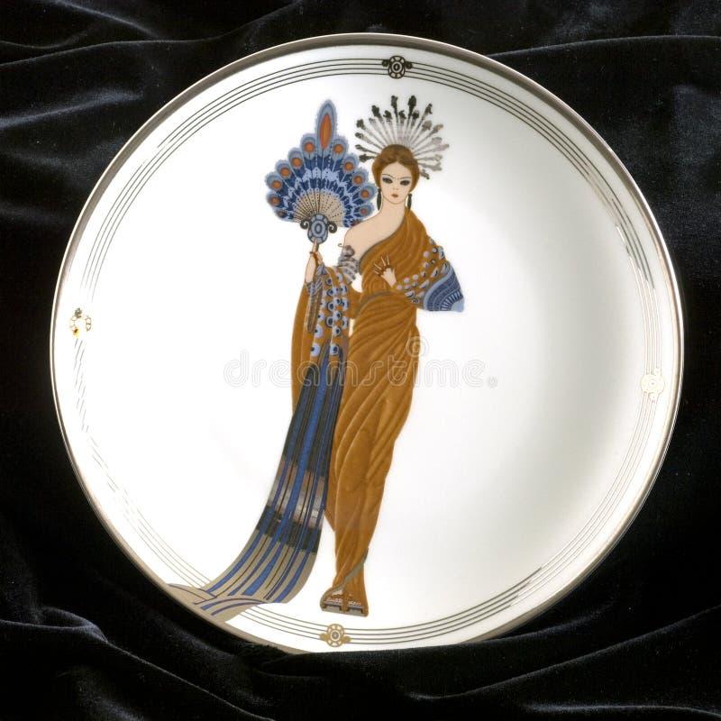 τετράγωνο πιάτων Αθηνάς erte στοκ φωτογραφίες