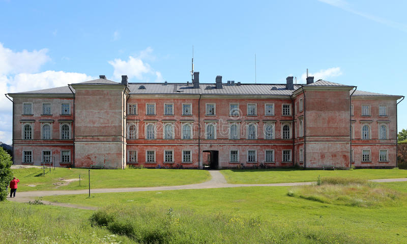 Τετράγωνο σε ένα από τα νησιά Suomenlinna στο Ελσίνκι, Φινλανδία στοκ εικόνες με δικαίωμα ελεύθερης χρήσης