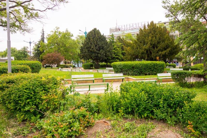Τετράγωνο στο κέντρο Bourgas, Βουλγαρία στοκ εικόνες