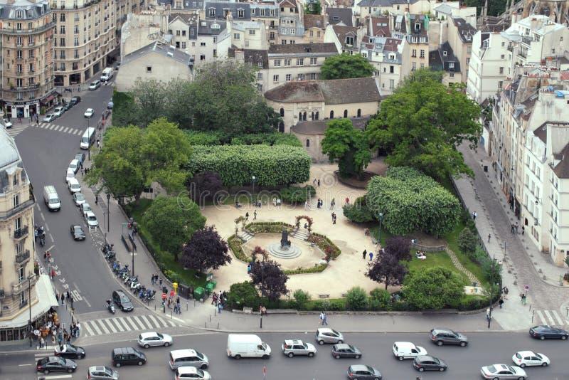 Τετράγωνο στο Παρίσι στοκ εικόνα