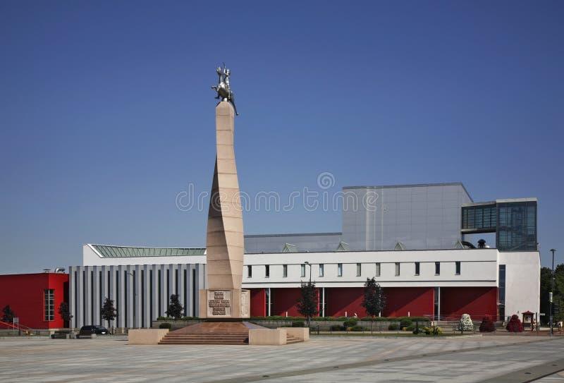 Τετράγωνο Basanavicius σε Marijampole Λιθουανία στοκ φωτογραφίες