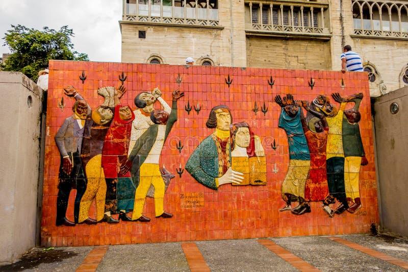 Τετράγωνο bolívar στο Manizales, Κολομβία στοκ εικόνες