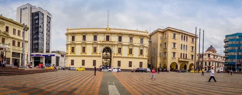 Τετράγωνο bolívar στο Manizales, Κολομβία στοκ φωτογραφία