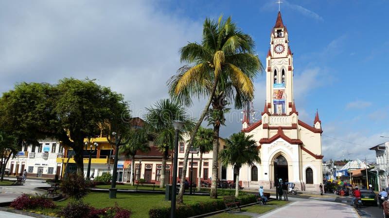 Τετράγωνο Iquitos μέχρι την ημέρα στοκ εικόνες