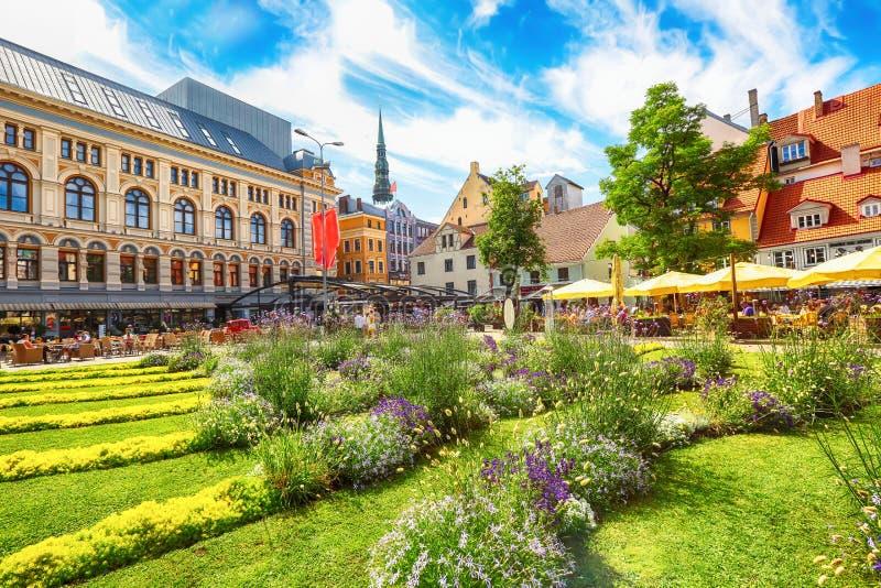 Τετράγωνο Livu, Ρήγα, Λετονία στοκ φωτογραφία με δικαίωμα ελεύθερης χρήσης
