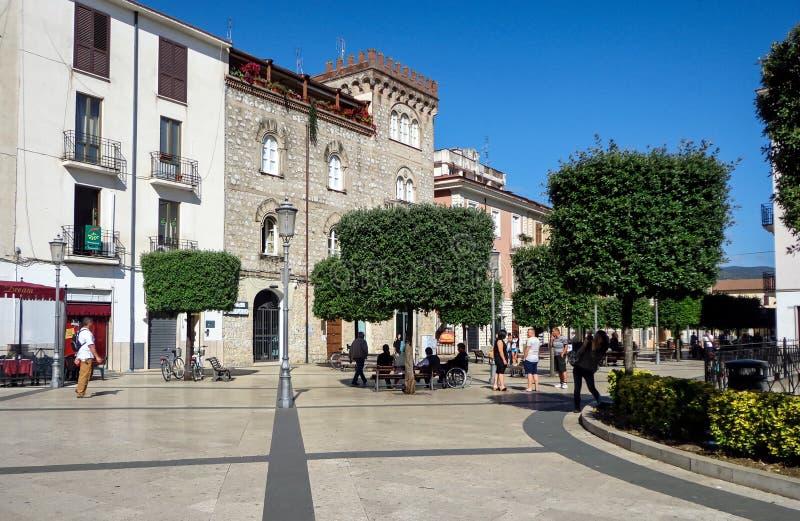 Τετράγωνο Matteotti σε Fondi, Ιταλία στοκ εικόνα