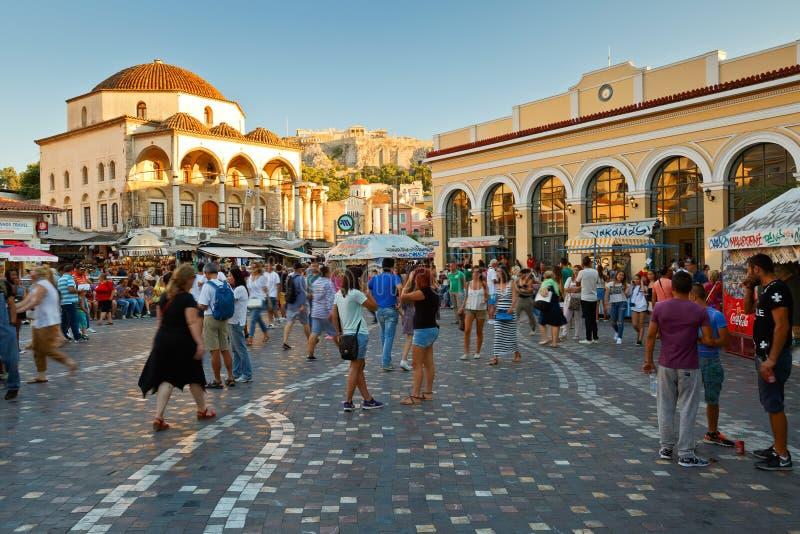 Τετράγωνο Monastiraki, Αθήνα στοκ εικόνες με δικαίωμα ελεύθερης χρήσης