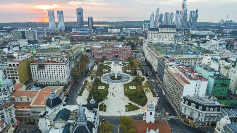 Τετράγωνο Plaza de Mayo Μάιος στο Μπουένος Άιρες, Αργεντινή Αυτό ` s η πλήμνη της πολιτικής ζωής της Αργεντινής στοκ εικόνες με δικαίωμα ελεύθερης χρήσης