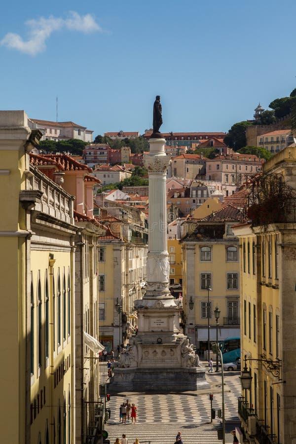 Τετράγωνο Rossio, Λισσαβώνα στοκ εικόνα με δικαίωμα ελεύθερης χρήσης