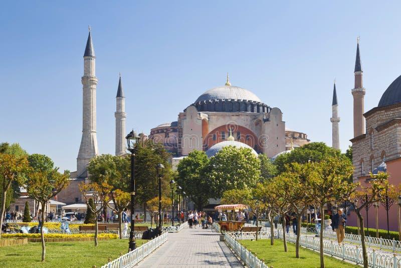 Τετράγωνο Sultanahmet με τις απόψεις του Hagia Sophia στοκ εικόνες