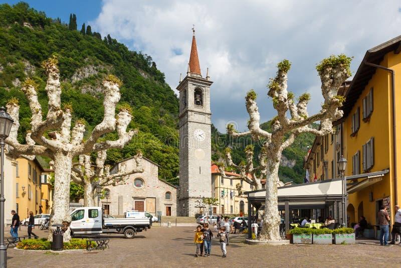 Τετράγωνο Varenna, Ιταλία στοκ φωτογραφίες με δικαίωμα ελεύθερης χρήσης