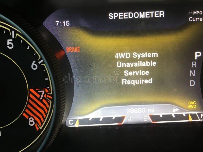 Τετράτροχος μη διαθέσιμος συστημάτων Drive αυτοκινήτων αποτυχημένος στοκ φωτογραφία