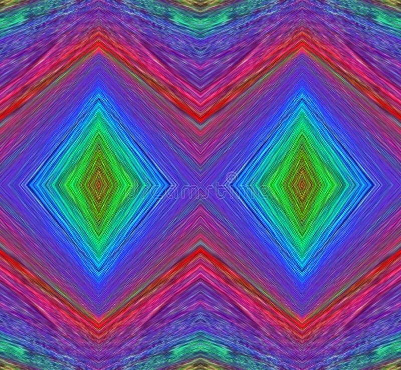 Τετραγωνικά αφηρημένα υπόβαθρα τέχνης χρωμάτων απεικόνιση αποθεμάτων