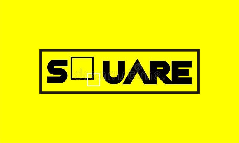 Τετραγωνικά λογότυπα διανυσματική απεικόνιση