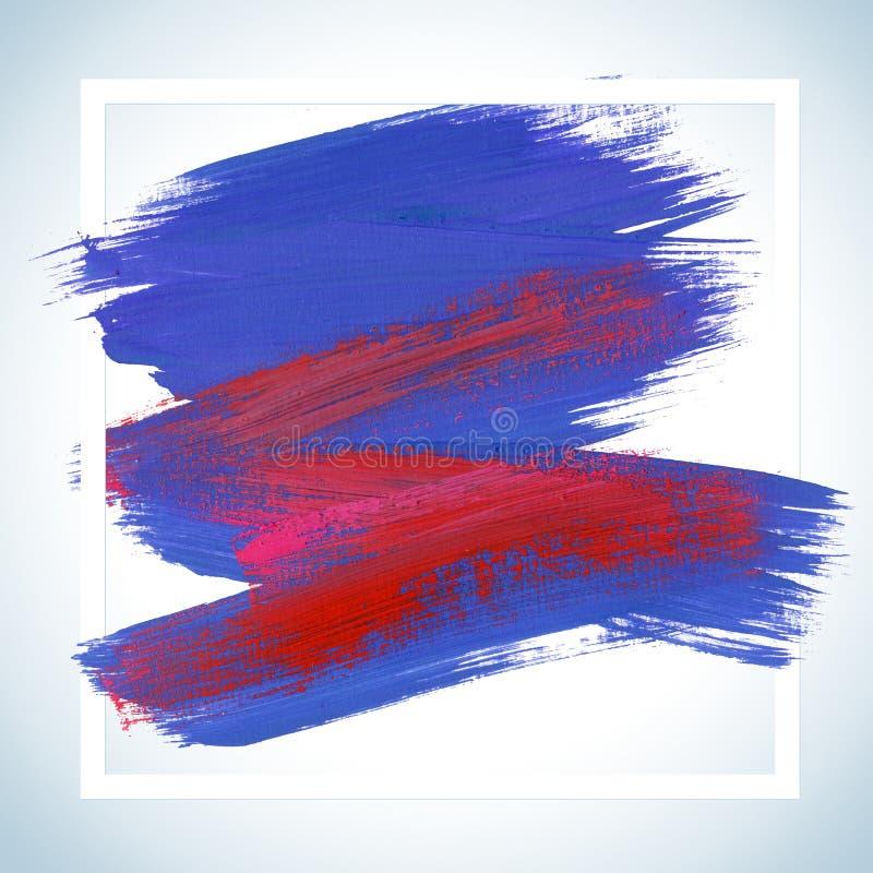 Τετραγωνική ακρυλική αφίσα κτυπήματος ονείρου κινήτρου Εγγραφή κειμένων ενός εμπνευσμένου ρητού Τυπογραφικό πρότυπο αφισών αποσπά διανυσματική απεικόνιση
