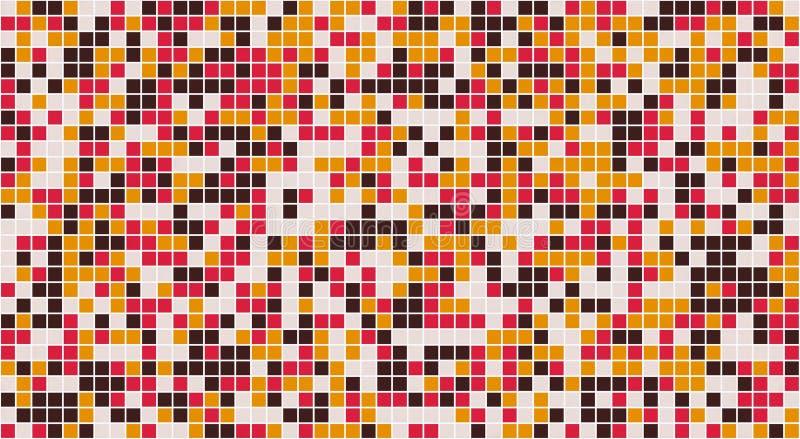 Τετραγωνική δαπέδωση κεραμιδιών μωσαϊκών ή διακόσμηση τοίχων για την ταπετσαρία Υλικό υπόβαθρο σύστασης σχεδίων σχεδίου αρχιτεκτο διανυσματική απεικόνιση