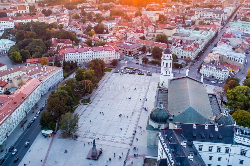 Τετραγωνική κεραία καθεδρικών ναών Vilnius στοκ φωτογραφίες με δικαίωμα ελεύθερης χρήσης