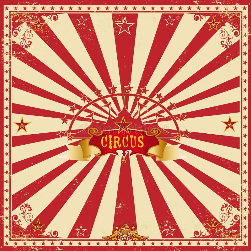 Τετραγωνική κόκκινη κάρτα τσίρκων στοκ φωτογραφία με δικαίωμα ελεύθερης χρήσης