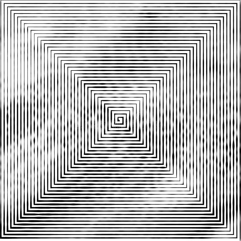 Τετραγωνική μορφή ως λαβύρινθο ανώμαλου, που αλλάζει το πάχος των γραμμών ελεύθερη απεικόνιση δικαιώματος