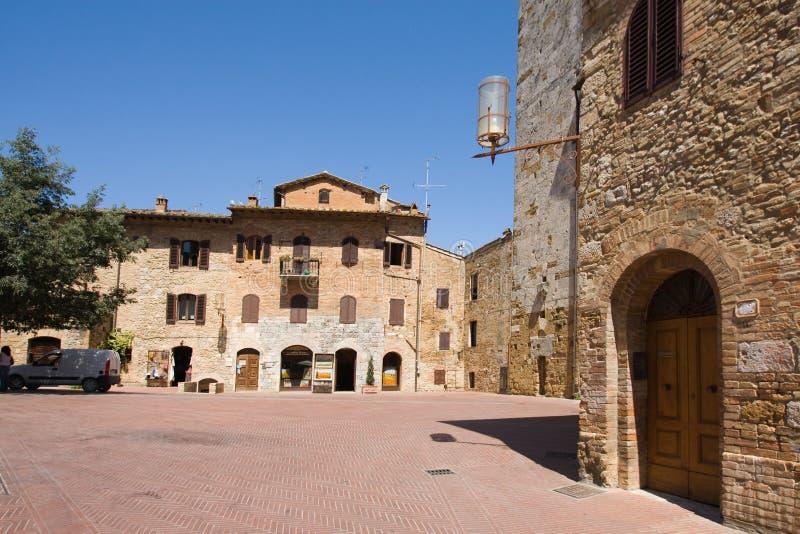 τετραγωνική πόλη gimignano SAN στοκ φωτογραφία με δικαίωμα ελεύθερης χρήσης