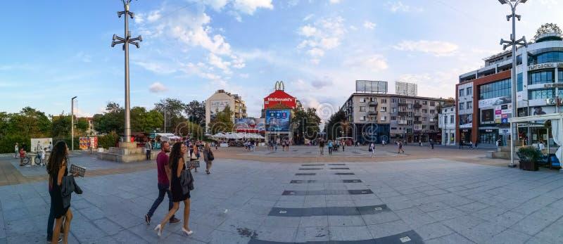 Τετραγωνική τρόικα, Burgas, Βουλγαρία στοκ εικόνες